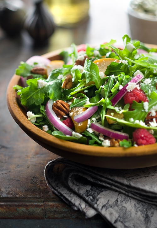 roasted-pear-raspberry-salad